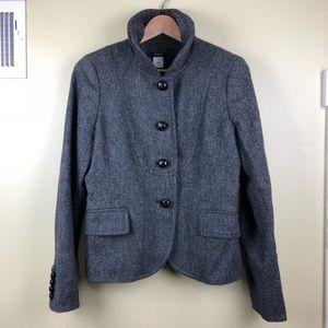 J. Crew 100% Wool Button Up Blazer